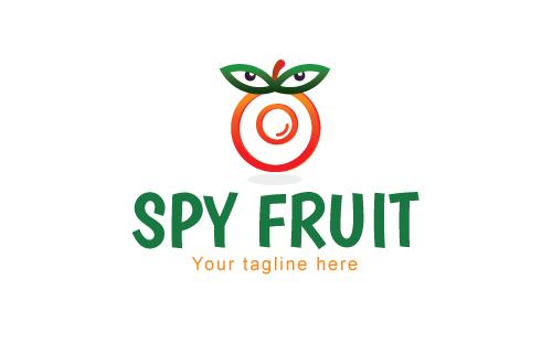 Spy Fruit - Hidden Camera Gadget Logo Template