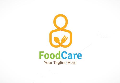Food Care Logo Design Template