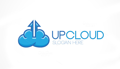Up Cloud Logo Template
