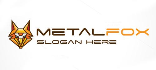 Metal Fox Logo Template