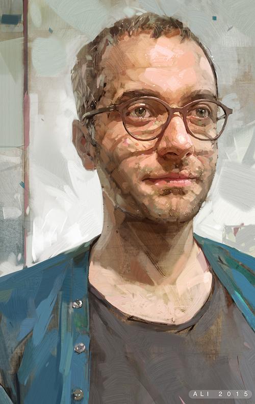 Digital Portrait Illustrations by Ali Kiani Amin