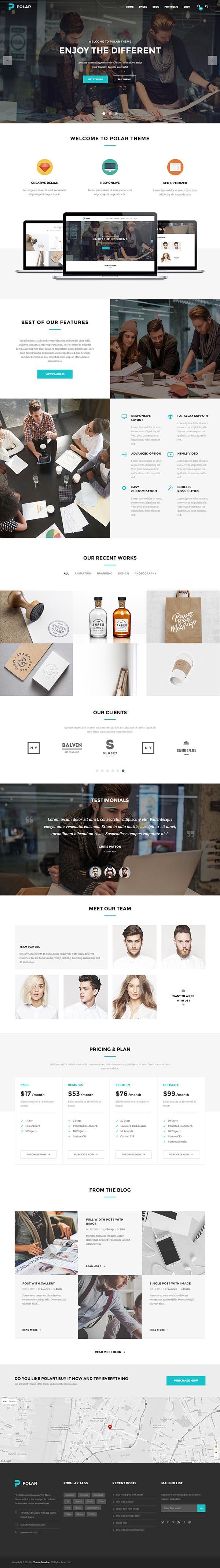 Polar – Creative Multi-Purpose WordPress Theme