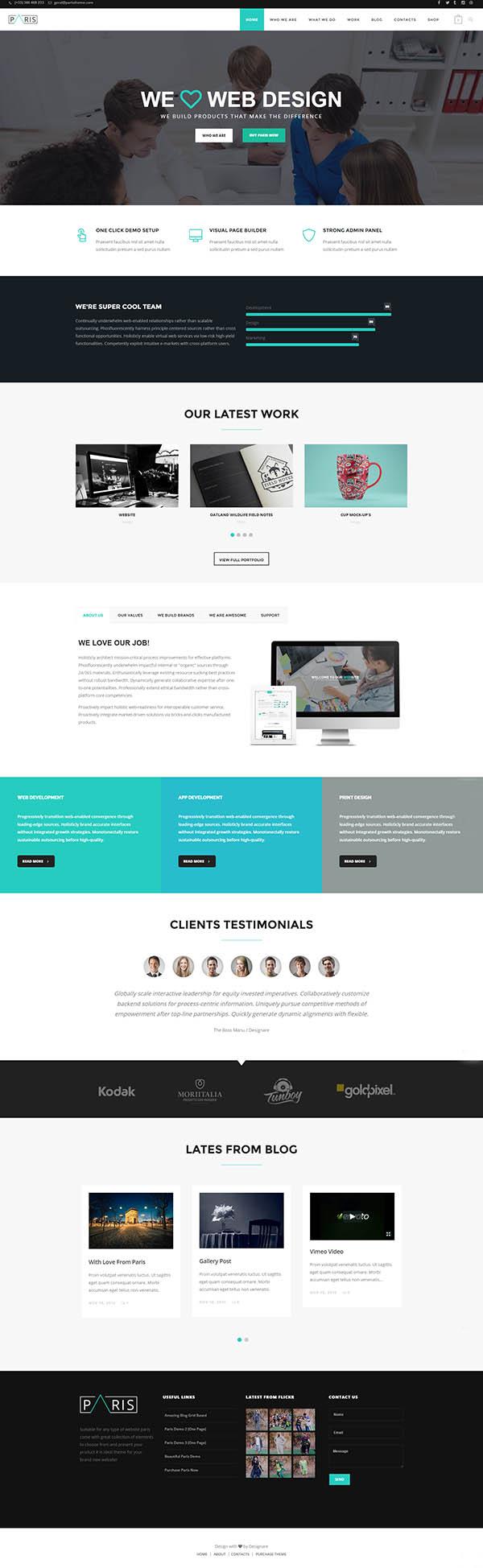 Paris – Multi-Purpose WordPress Theme