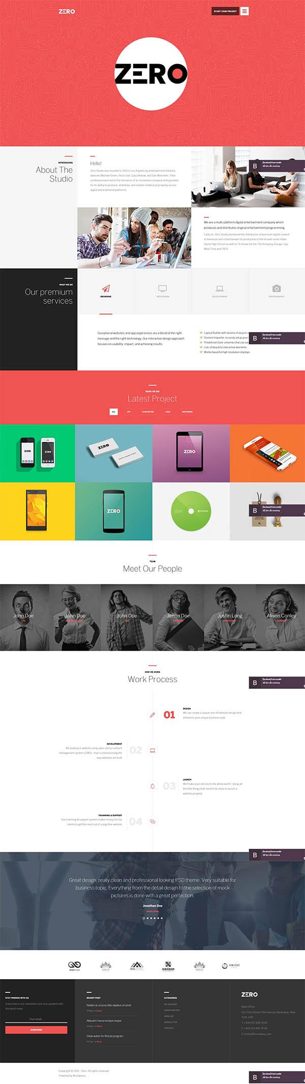 Zero – Corporate Creative WordPress Theme