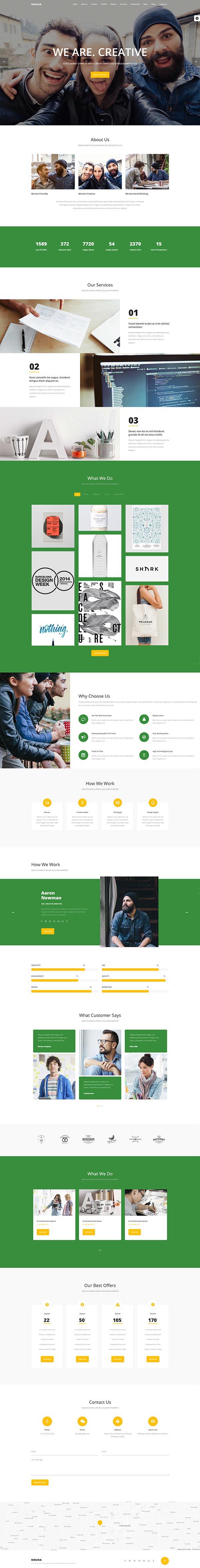 NRGika – Premium OnePage Portfolio WordPress Theme