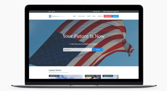 Politics-ready WordPress Theme
