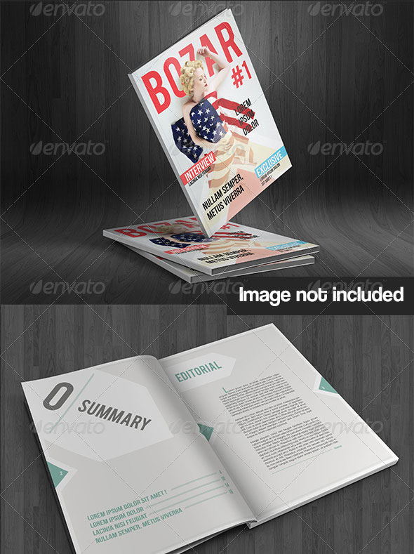 Bozar - Magazine Template Indesign