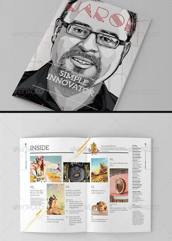 indesign magazine template