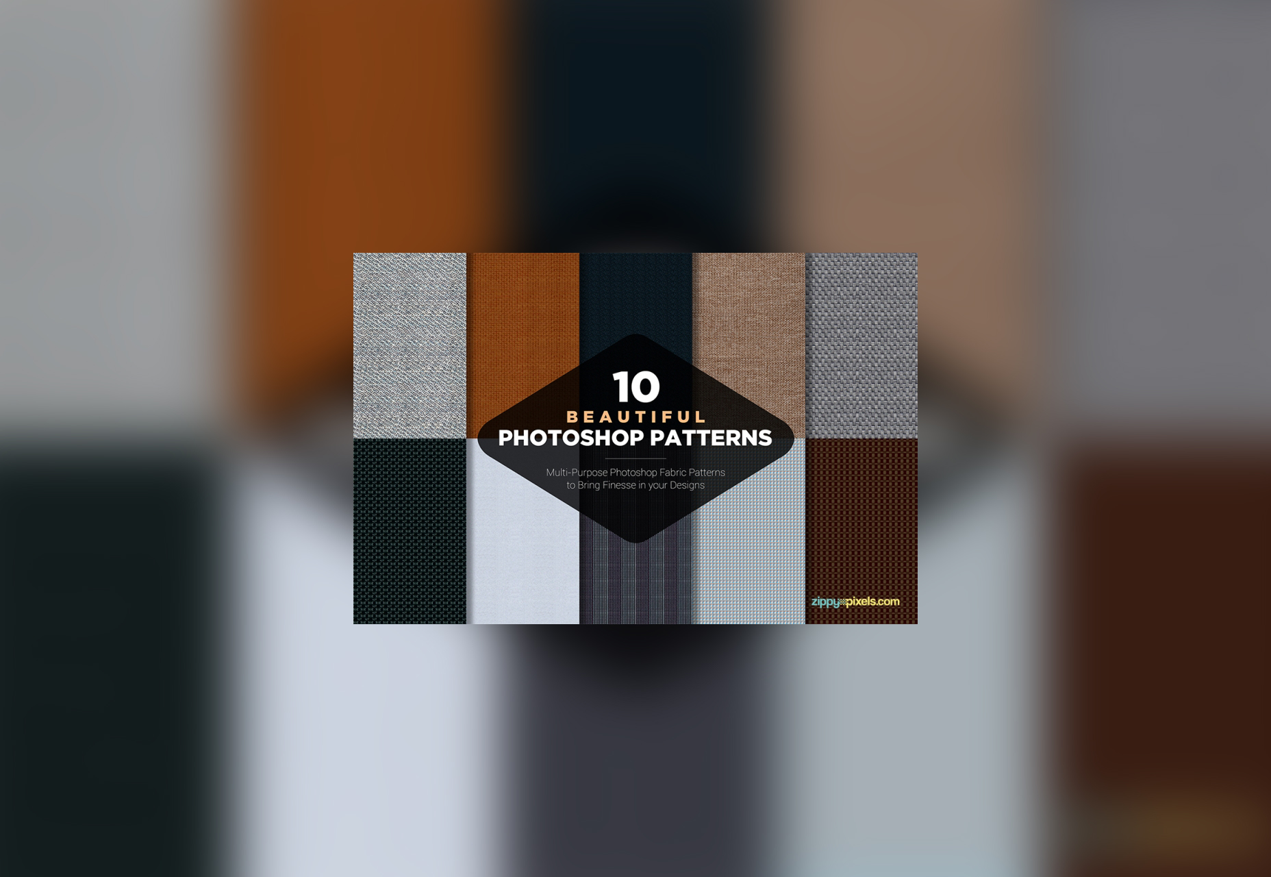 10 Free Photoshop Fabric Patterns