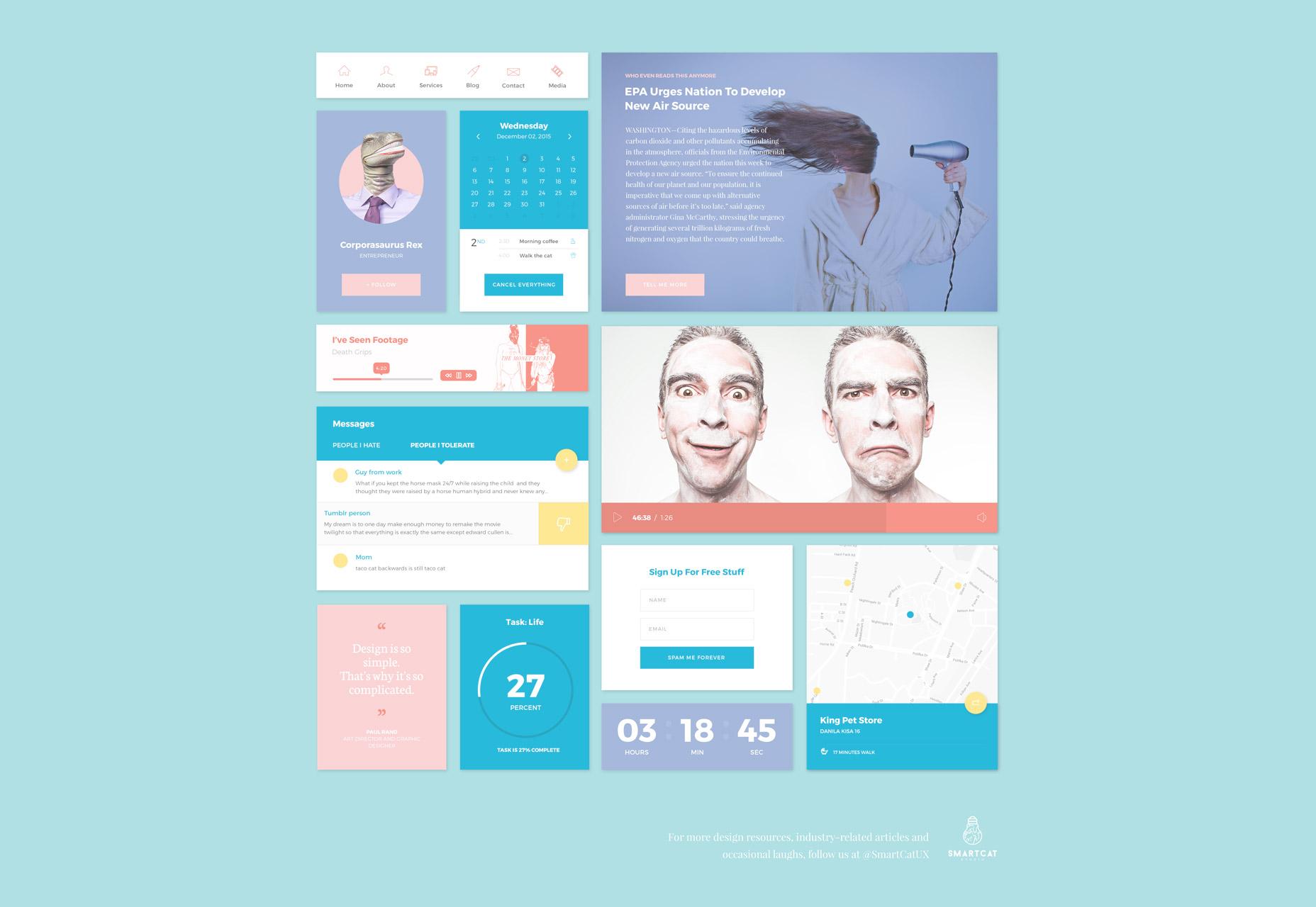 Pantone: Flat Web UI Kit