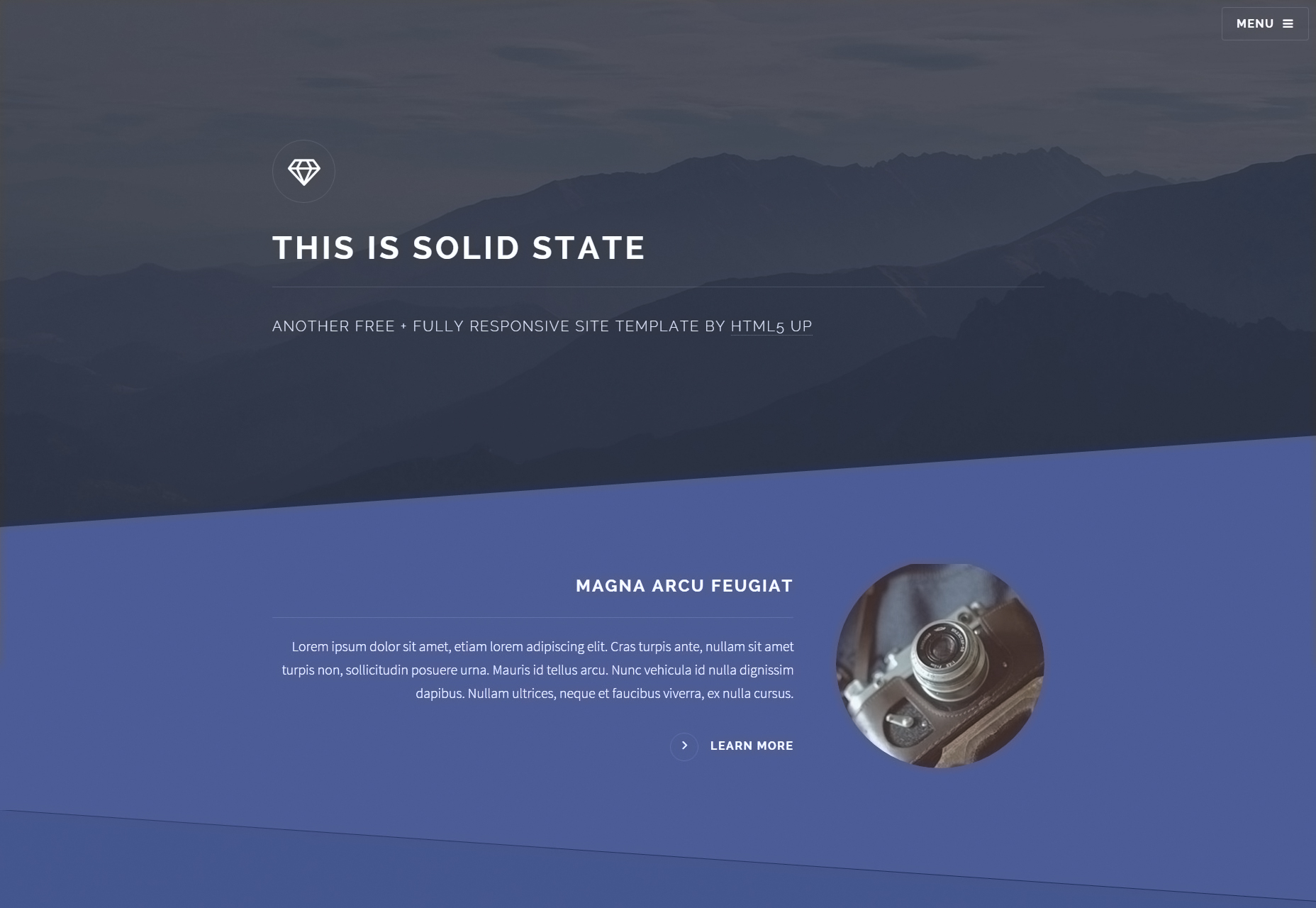 Solid State: Fully Responsive Web Template