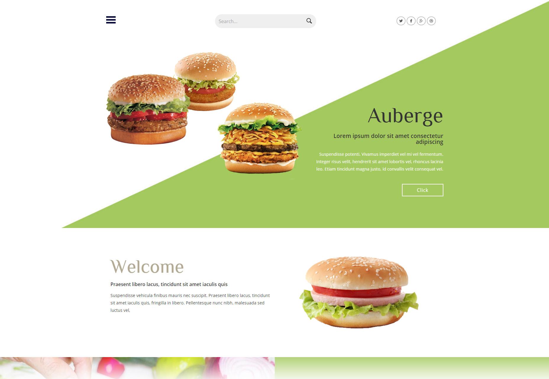 Auberge: Hotel Restaurant Flat Bootstrap Web Template