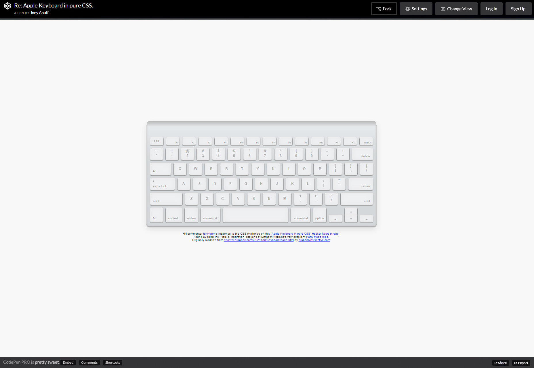 Pure CSS Apple Keyboard