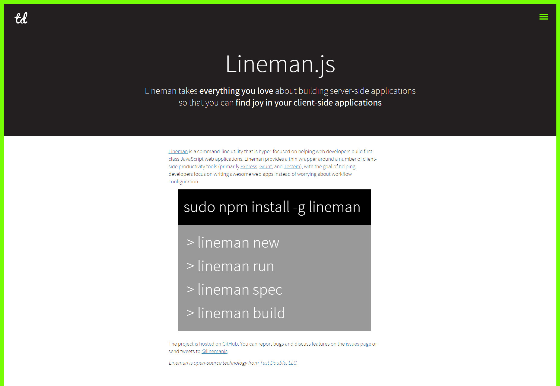 Lineman: Client-Side App- Focused Command Line Utility