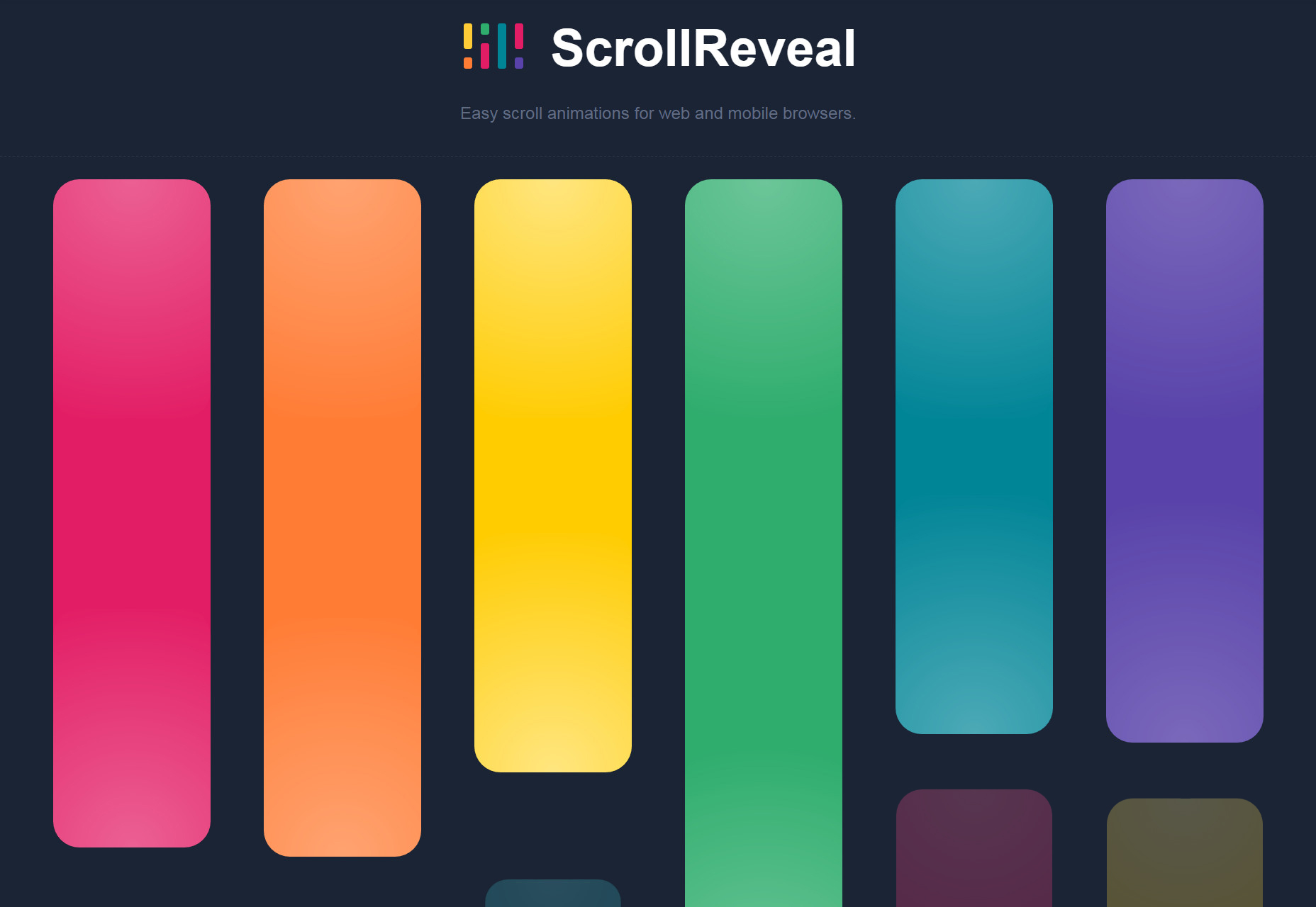 ScrollReveal: JavaScript Web & Mobile Scroll-to-Load