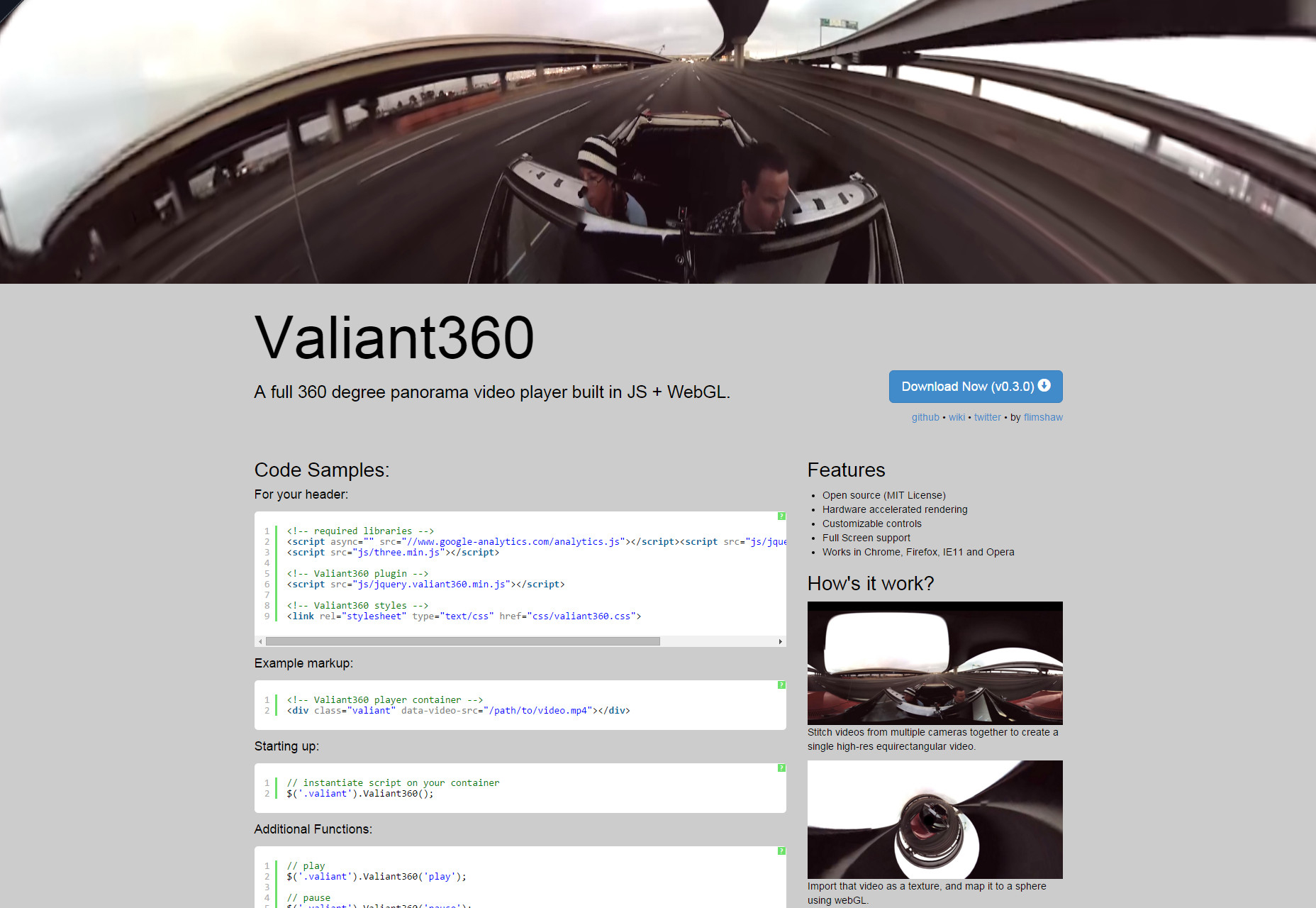 Valiant360: Panorama Video Player