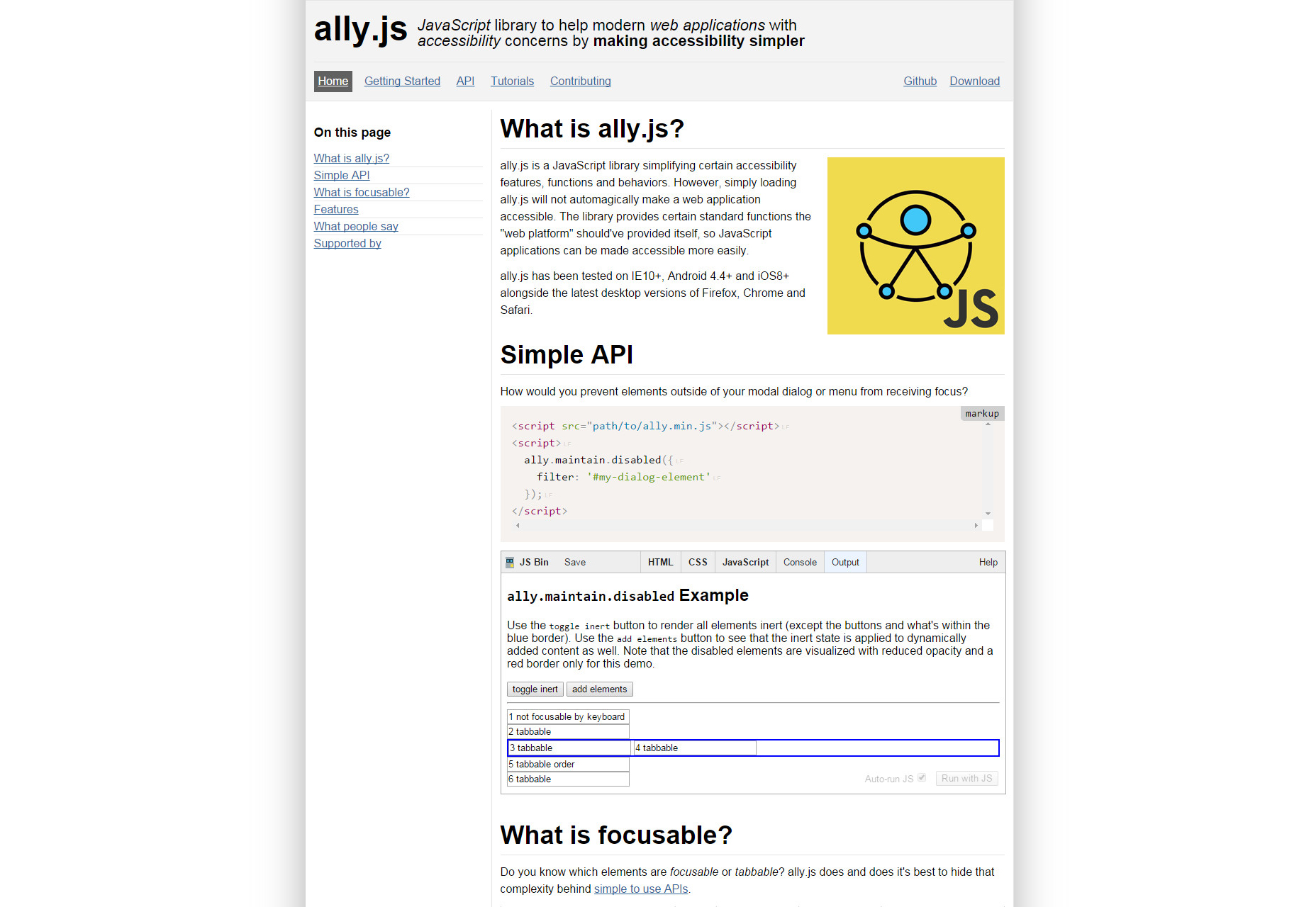 Ally.js: Accessibility-first JavaScript Library