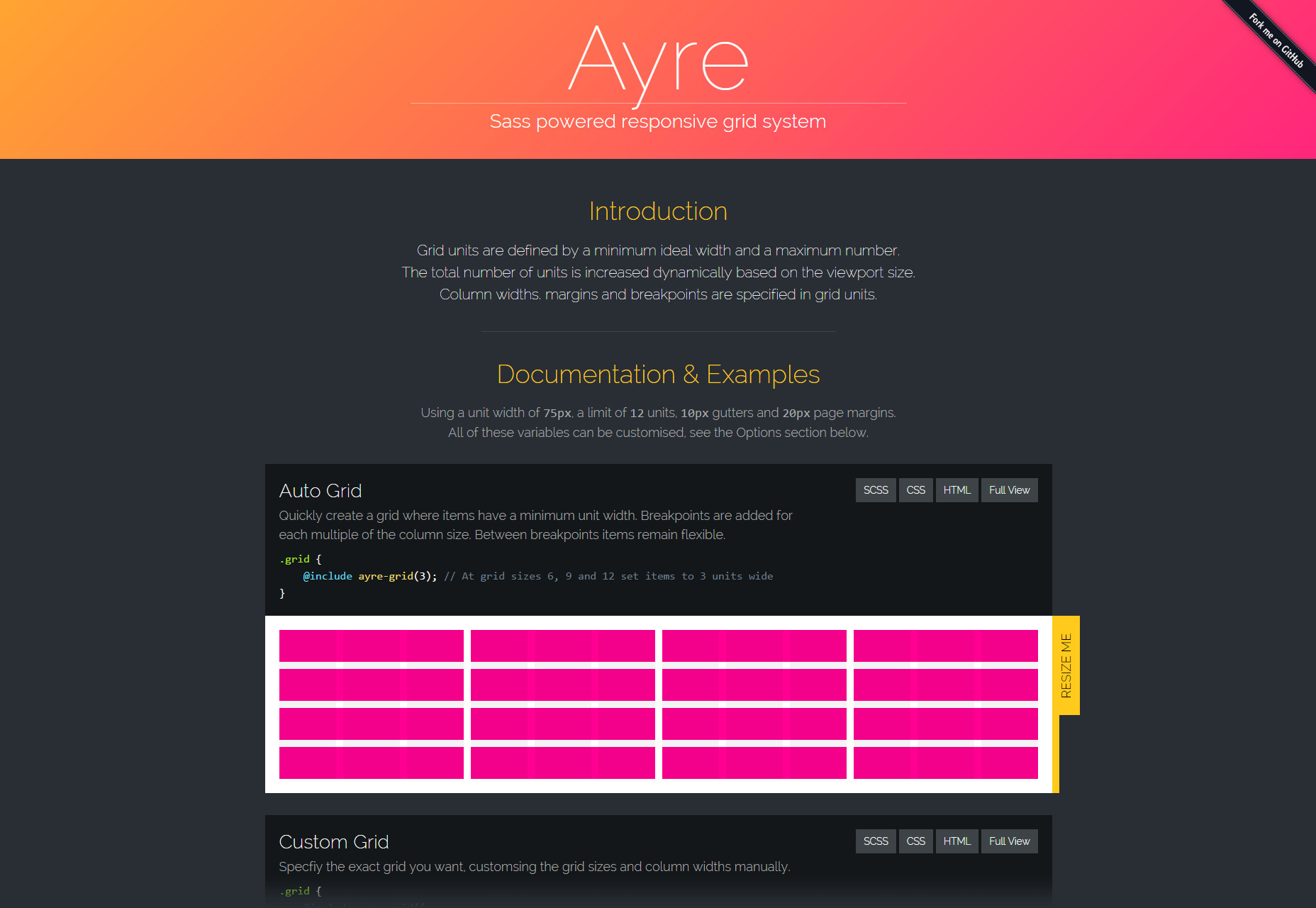 Ayre: A Sass Powered Responsive Grid System