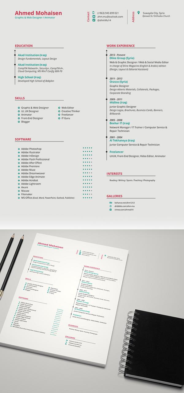Free Elegant CV / Resume Template