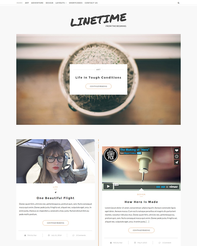 LineTime WordPress Themes