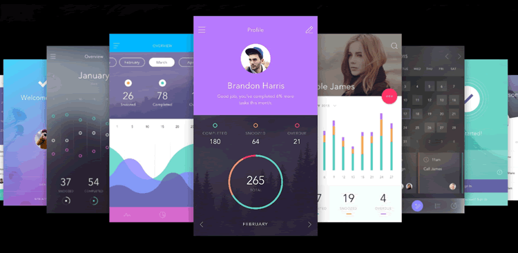 To-Do Mobile App UI Kit 130 Screens PSD Sketch Format by InVision