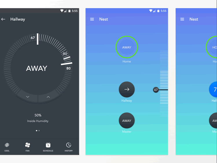 Nest Material Design App Kit 3 Screens Sketch Format by JoJo Marion
