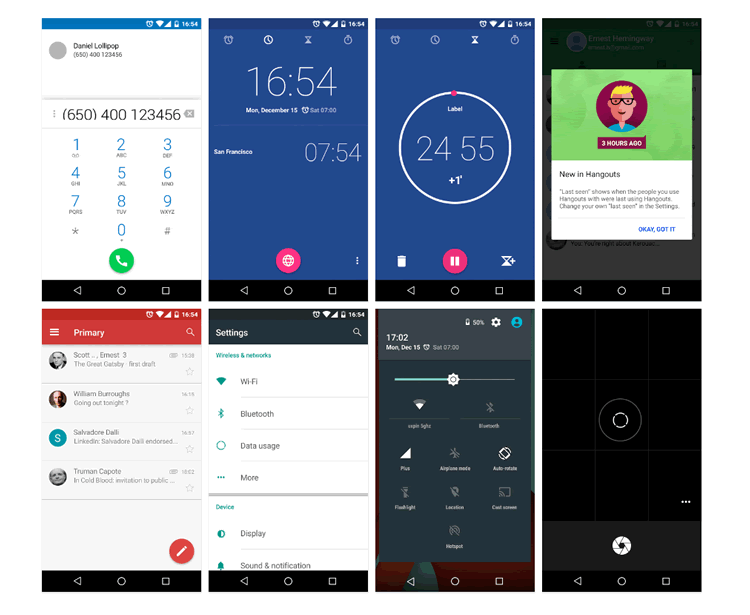 Android Lollipop UI Design Kit 45 Elements PSD free Sketch Formats UXPin