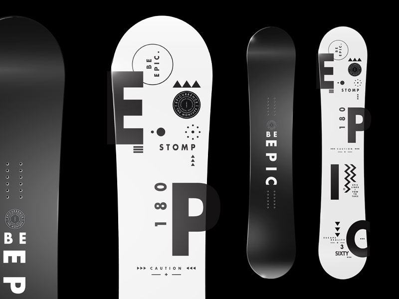 Epicurrence Snowboard - Be Epic.