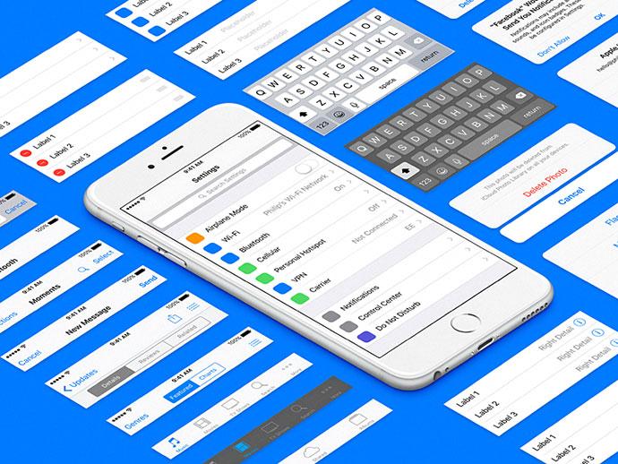 iOS 9b3 UIKit for Sketch
