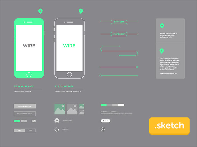 Wireframe kit freebies