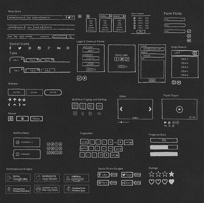 Handmade UI Kit