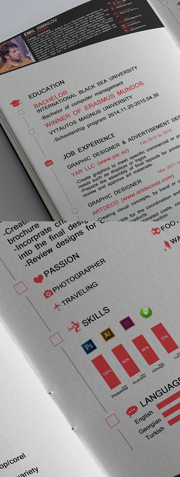 Free CV FREE Resume Template 2016 (3 Pages)