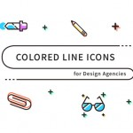 Free Download : Colored Line Icons (SVG, PNG)