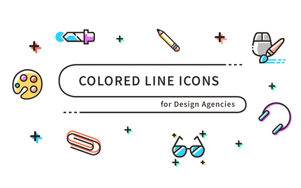 Free Download : Colored Line Icons (SVG, PNG) - iDevie