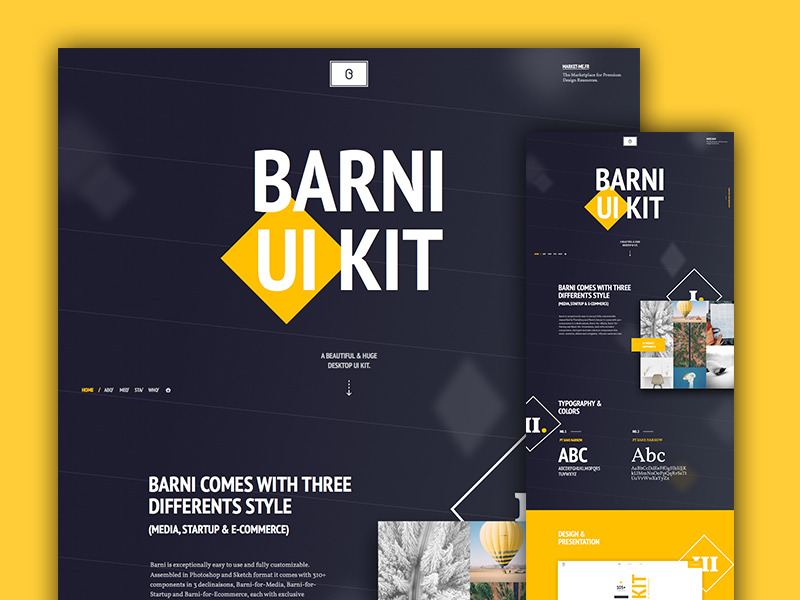 Barni UI Kit - Case Studies