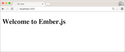 A freshly minted Ember CLI app