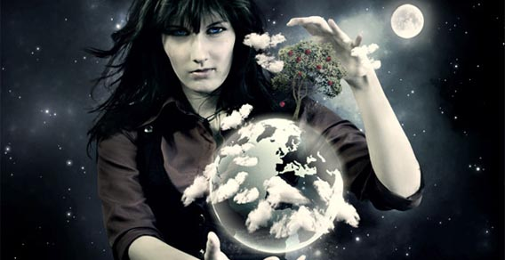 Blend a Planet Transparently into a Photo Manipulation