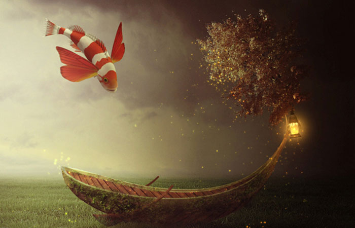 Create a Fantasy Boat Scene Photo Manipulation