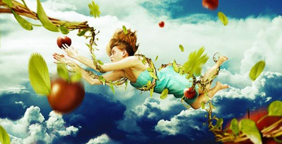 Create a Falling Fantasy Photomanipulation using Painting Techniques