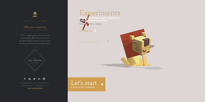 EPIC HTML5 and CSS 3 inspiration showcase site