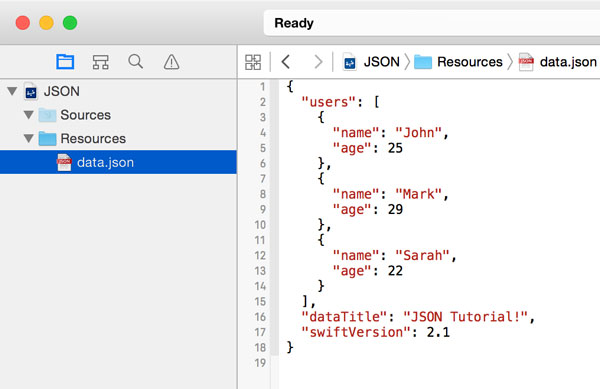 Add JSON Data