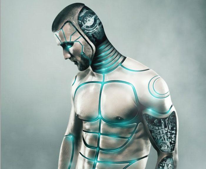 Futuristic Male Cyborg Photo Manipulation Tutorial