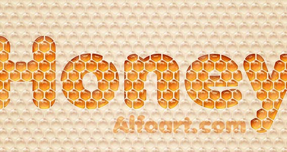 Honey bubbles text effect