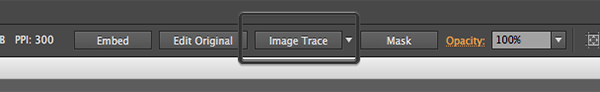 Image Trace button