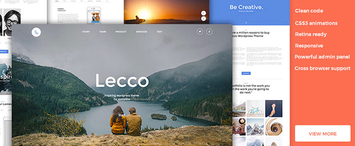 Lecco One Page WordPress Theme