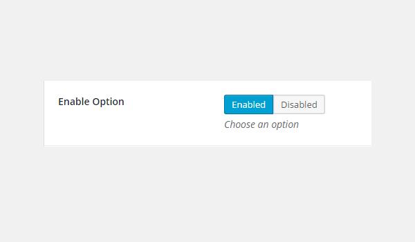 Adding enable Type Options