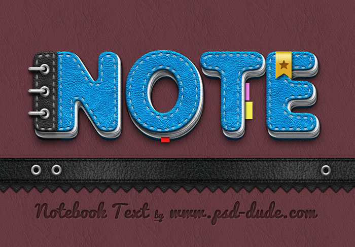 Notebook Paper Text Photoshop Tutorial