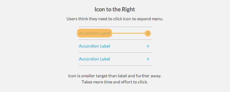 Where to Place Your Accordion Menu Icons