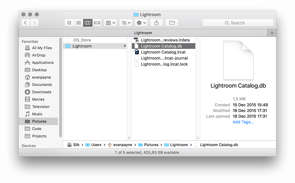Renaming the Lightroom Catalog for ease of use