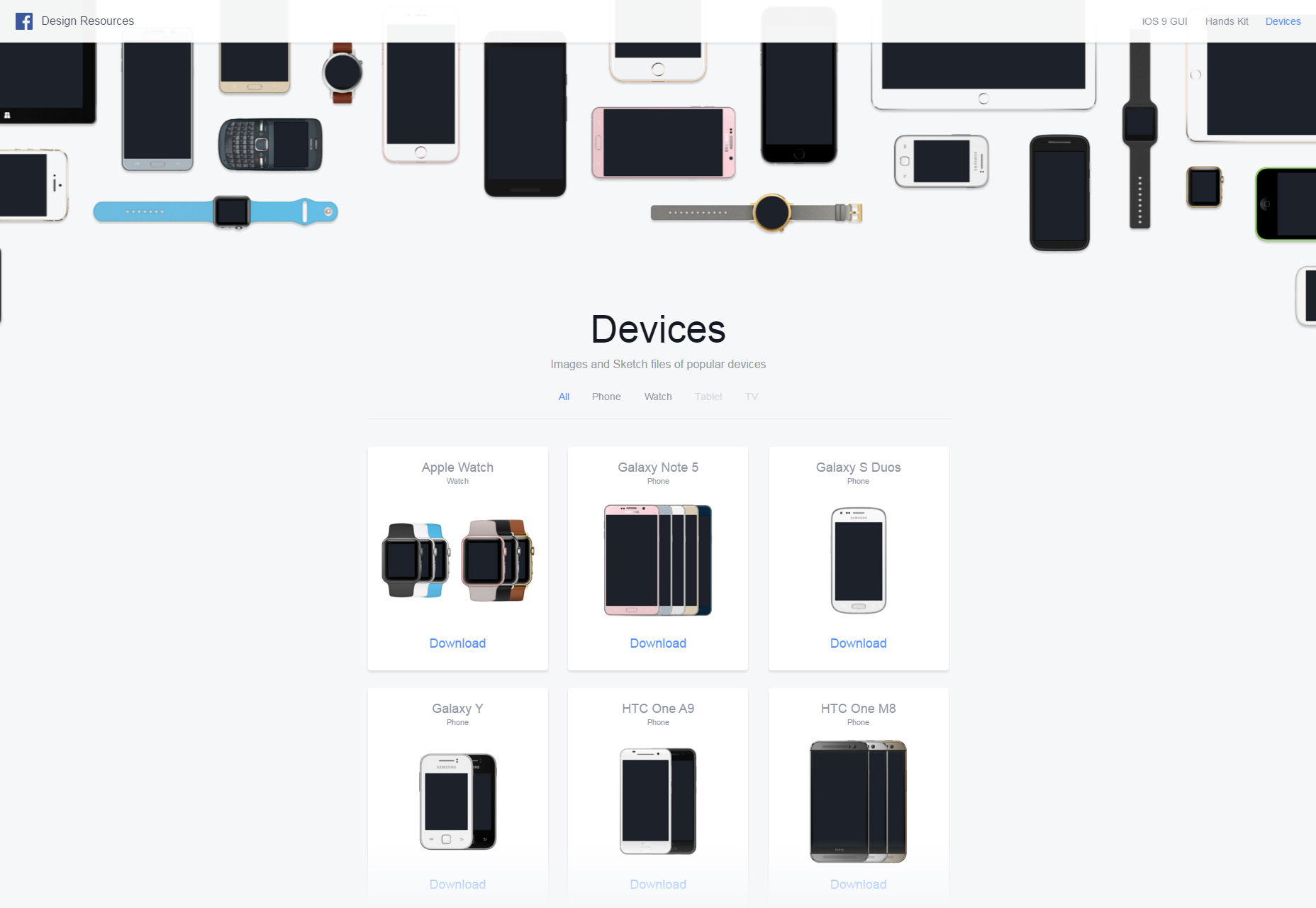 Facebook's Devices Design Resources